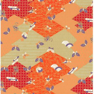 Japanese Chiyogami - Abstract Summer Gold Overlay