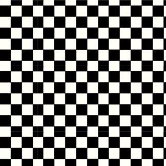 Pretty in Print - Checker - Licorice Black