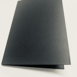 Matte Black Hard Cover Invitation Folders