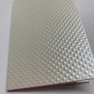 Quilted Alabaster Hard Cover Invitation Folders
