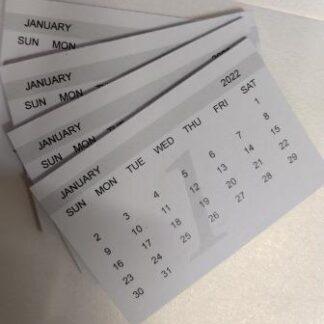Mini Calendar Tab 2022