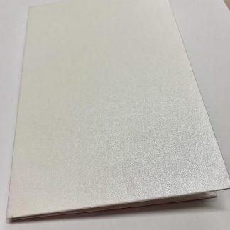 White Champagne Hard Cover Invitation Folders
